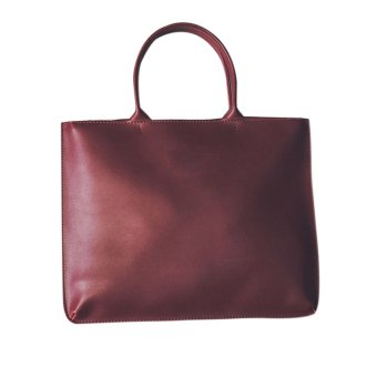 New Autunm Winter Women PU Leather Handbag Shoulder Bag (Wine Red) - intl