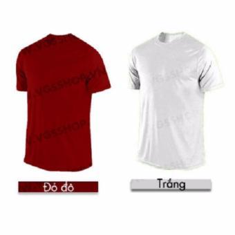 Bộ 2 áo thun LAKA A1114 (Trắng + Đỏ đô)