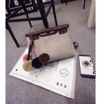 Túi xách thời trang da lộn BTSHD02 (kem)