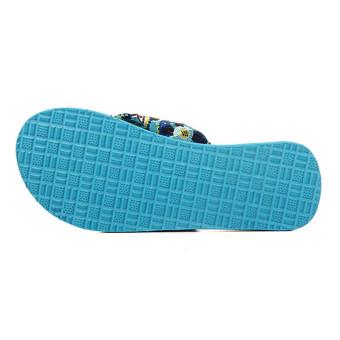 Women Floral Summer Thick Flip Flops High Heel Beach Slippers Platform Sandals - Intl - Intl