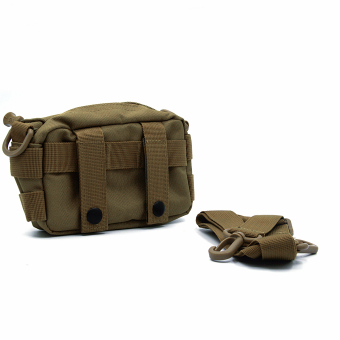 Molle Tactical Storage Bag Cross Body Messenger Tote Bag Shoulder Satchel Army Gear Leisure Flap Handy Pouch Brown - Intl - intl
