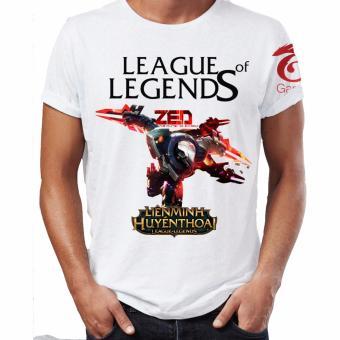 Áo thun Liên minh huyền thoại 3D Zed Siêu Phẩm LOLZED01 (Trắng)