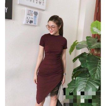 Đầm Body Phối Ren (Đỏ đô)