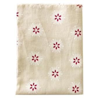 BolehDeals 1.6 Yards Christmas Snowflake Pattern Cotton Linen Sewing Cloth Fabric#4 - intl