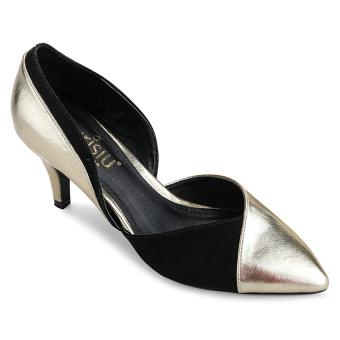 Giày cao gót bít mũi Sarisiu XT748 (Đồng)
