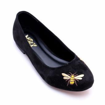 Giày Búp Bê Da Lộn Thêu Hình Xinh Xắn MZBB42.2