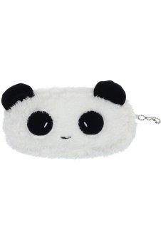 Plush Panda Pen Wallet (White/Black)