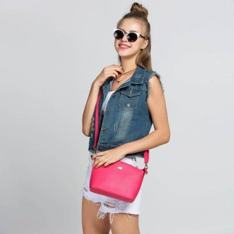 Linemart Limemart New Women Cylinder Lady Tassel Buttons Bucket Shoulder Bag Cross Body Hand Bag Zipper 5 Colors ( Lake Blue ) ( Blue ) - intl