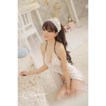 Áo ngủ yếm trắng Chodeal24h