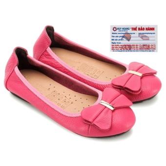 Giày nữ búp bê Huy Hoàng da bò (Hồng)