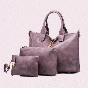 Women Handbag Shoulder Bag Leather Messenger Bag Satchel Purse Tote - intl