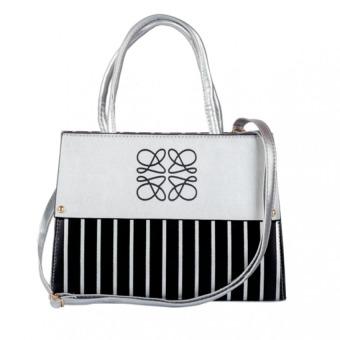 Túi đeo chéo nữ hoàng MS164 (Trắng đen)