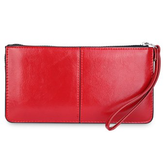 Patchwork Handbag Clutch Phone Bag Wrist Wallet(Red) - intl