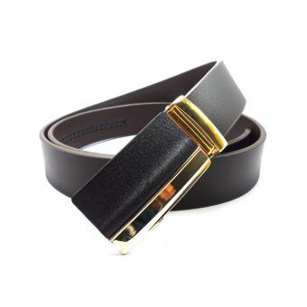 Thắt lưng nam da bò khóa gạt DaH2 D0067KG32 (Nâu)