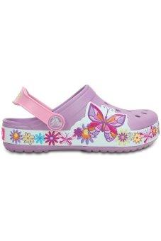 Giày sục bé gái Crocs Crocband Butterfly Clog K Iris 202664-532 (Tím)