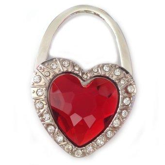Móc treo túi xách hình trái tim đá (Đỏ)