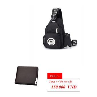 Túi Đeo Nam Hàn Quốc Tặng kèm ví nam HARAS HR12783(ĐEN)