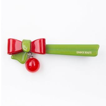 Kẹp tóc Aznavous Graine De Beaute phong cách Hàn Quốc đỏ xanh lá