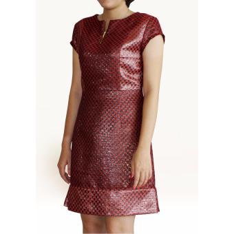Đầm ánh kim metalic OYO FASHION (đỏ)