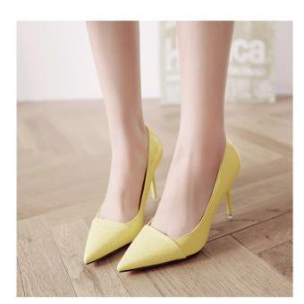 Giày Cao Gót Thời Trang Phối Da Rắn