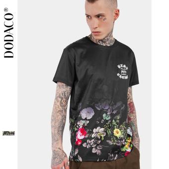 Áo Thun Cho Nam Áo T-Shirt Cổ Tròn Tay Ngắn Áo In Hoa Phong Cách TATTOO Thời Trang DODACO DDC1890 DE ANA M - XXL 0039S17 (Đen)