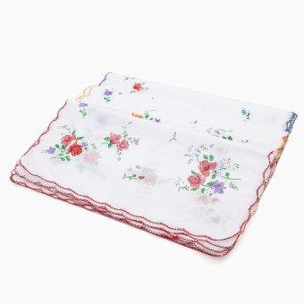 12pcs/Set Lot Ladies Women Vintage Cotton Quadrate Hankies Floral Handkerchief 30*30cm NEW - intl