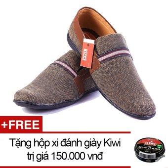 Giày lười nam VNL1ZL20X (Xám) + Tặng 01 hộp xi đánh giày Kiwi trị giá 150.000 vnđ
