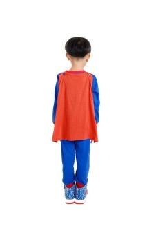 Quần áo siêu nhân Super Man 130cm 7Gift Shop (Xanh dương)