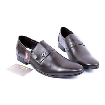 Giày tây nam công sở da thật cao cấp màu nâu Da Giày Việt Nam VNLMO4A15N