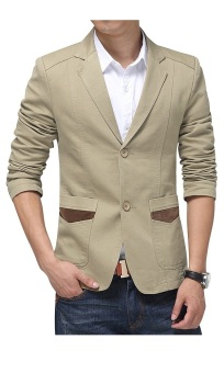 Áo khoác nam dạng vest Bui Nguyen L412 (Kem)