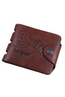 Bluelans Fashion Men's Faux Leather Wallet Card Bifold Purse Money Clip Brown (Intl)