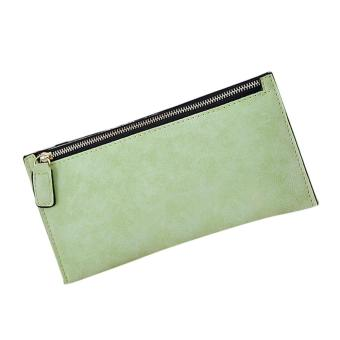 Fashion Women Leather Zipper Wallet Clutch Card Holder Purse Lady Long Handbag - intl