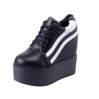 Giày Bánh Mì BM232D (Đen sọc trắng)