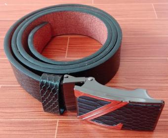 Dây thắt lưng da thời trang nam chữ Z DLN006 (dây đen mặt đen)