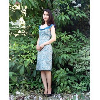 Đầm Body hoa vàng xanh Cocoxi 17DT63
