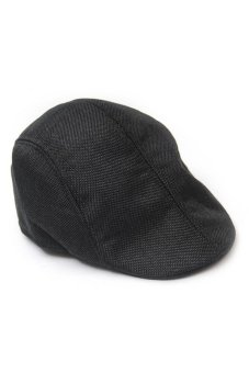 Fancyqube Men Newsboy Cap Hat Gatsby Flat Ivy Golf Cabbie Baker Beret Artist Black