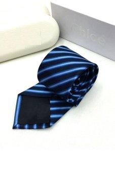 Cà vạt lụa thời trang bản vừa Victoria90 VT6009-5 (Xanh)