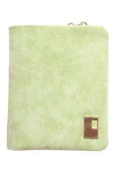 Bluelans Women Matte Faux Leather Zipper Hasp Wallet Purse Card Handbag Light Green (Intl)