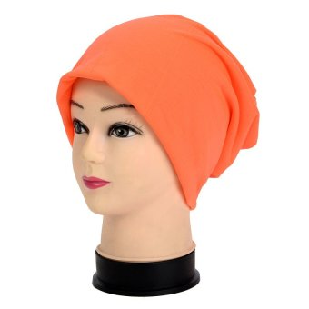 Candy Color Beanie Cap Turban Knitted Knit Winter Warm Ski Crochet Slouch Hat Casual Skullies Cap For Woman and Men - intl