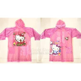Áo mưa hình HELLO KITTY dành cho trẻ em , học sinh và các bé có nhiều size (L-XL) - AMKT02