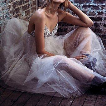 Cyber Women Strap Full Gown Maxi Long Dress (White) - Intl