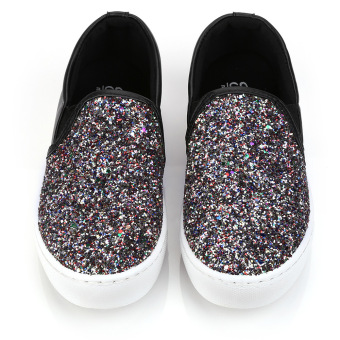 Ladies Causal Lazy Shoes Bling Glitter Flats (Gold) - intl