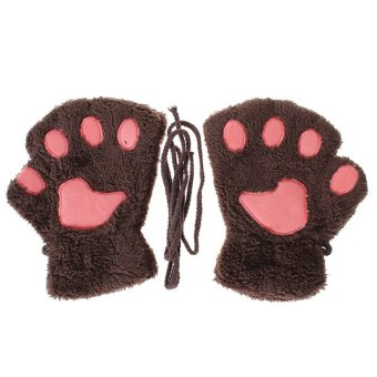 LALANG Paw Thicking Gloves Coffee - Intl
