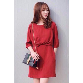 Đầm tuyết mưa thời trang LyLyFashion (đỏ)