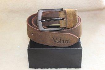 Dây thắt lưng nam da sáp một lớp VOLARE VDNGSDK01 (nâu rêu)