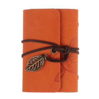 Practical Leather Business Credit ID Card Holder Orange