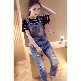 Yếm jeans dài thời trang LyLyFashion 4076