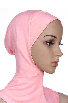 Bluelans Muslim Full Cover Inner Hijab Cap Islamic Underscarf Neck Head Bonnet Hat Pink (Intl)