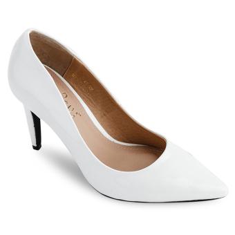 Giày cao gót bít mũi Sarisiu XT749 (Trắng)