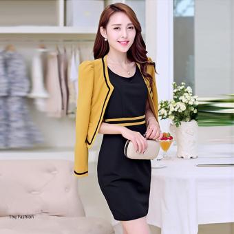 Bộ Đầm & Vest Vàng 385240